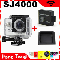 SJ4000 WIFI video action camera full hd 1080p waterproof GoPro Style Sport camrea+Extra 1pcs battery+battery charger