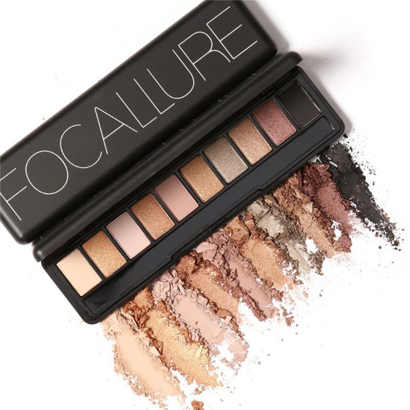 Focallure Brand Makeup Palette Natural Eye Makeup Light Ten Colors Eye Shadow Makeup Shimmer Matte Eyeshadow Palette Set PE3 WY5