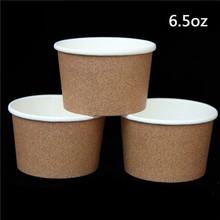 (100) 6.5oz Kraft Paper Cups Ice Cream or Frozen Yogurt(China (Mainland))