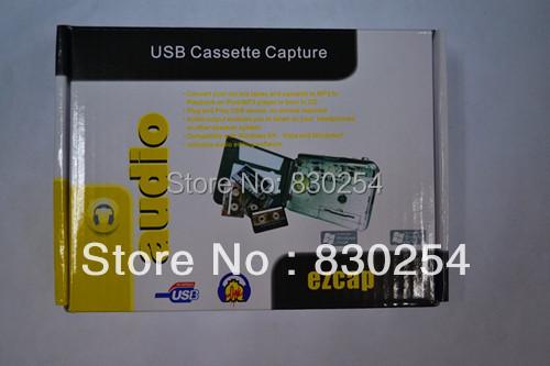 Free Shipping USB Tape to MP3 Audio Converter ,Tape to PC USB Cassette to MP3 iPod CD Converter Capture Audio Music Player(China (Mainland))