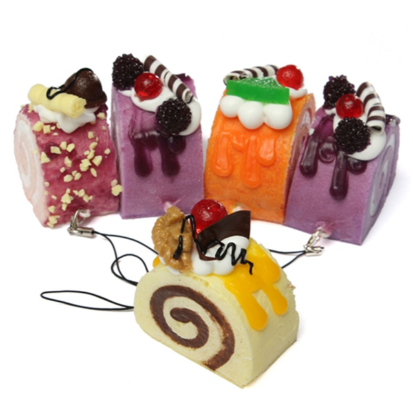 New Arrival Hot Sale Cute Squishy Charms Soft Food/Fruit/Cake/Bread Squishies Cell/Bag/Chain Straps(China (Mainland))