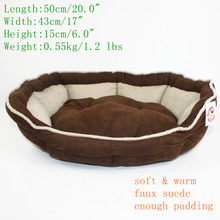Free Shipping Pet Bed Soft Warm Dog for Puppy or Cat Faux Suede High Elasticity PP Cotton Brown Bed for Dogs Pet Supplies(China (Mainland))