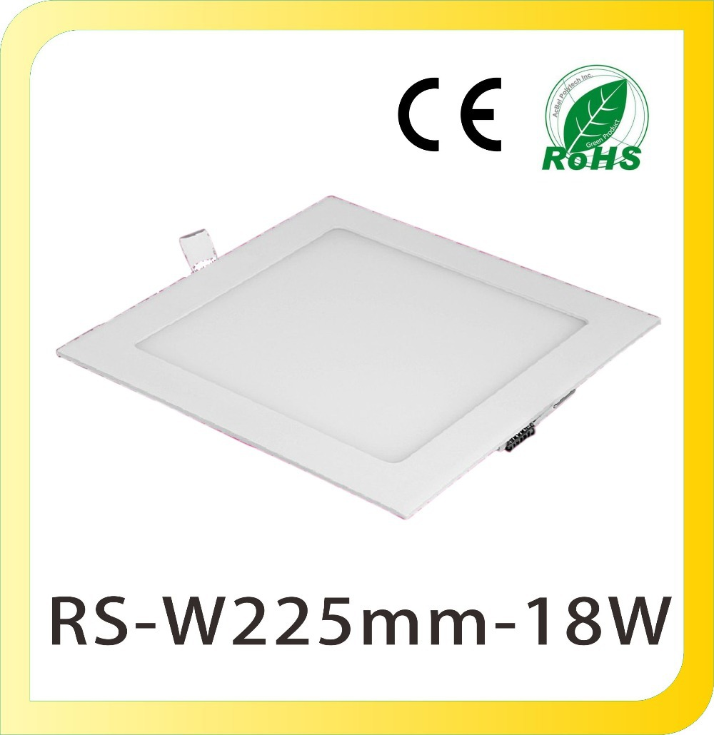 885~265V 225mm Square 18W Led Panel DownLights Recessed Ceiling Downlights - Ningbo Yike Lighting Co., Ltd store