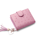 Famous Brand Trendy New Wallet Women Korean Style Fashion Simple Cowhide Short Purse Tassel Ornament Designer