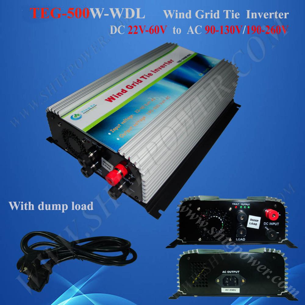 500W wind power grid ite inverter, cheap best grid tie converter 48V 220V, wind turbin on grid 500w(China (Mainland))