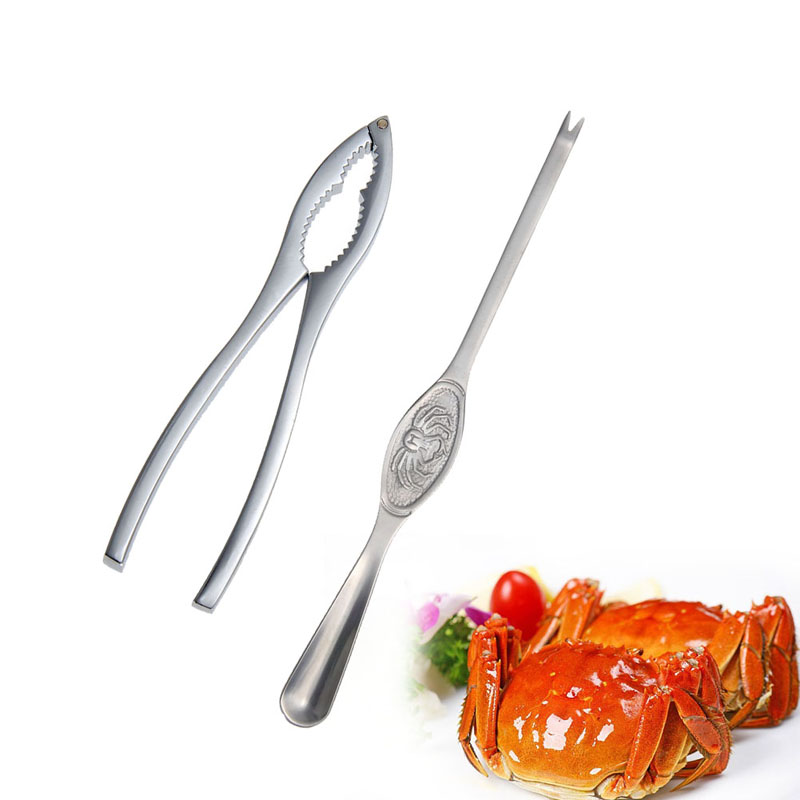 2015 New Kitchen cooking tools Seafood lobster crab forks,nut and lobster cracker,crab pick pincers home kitchen accessories(China (Mainland))