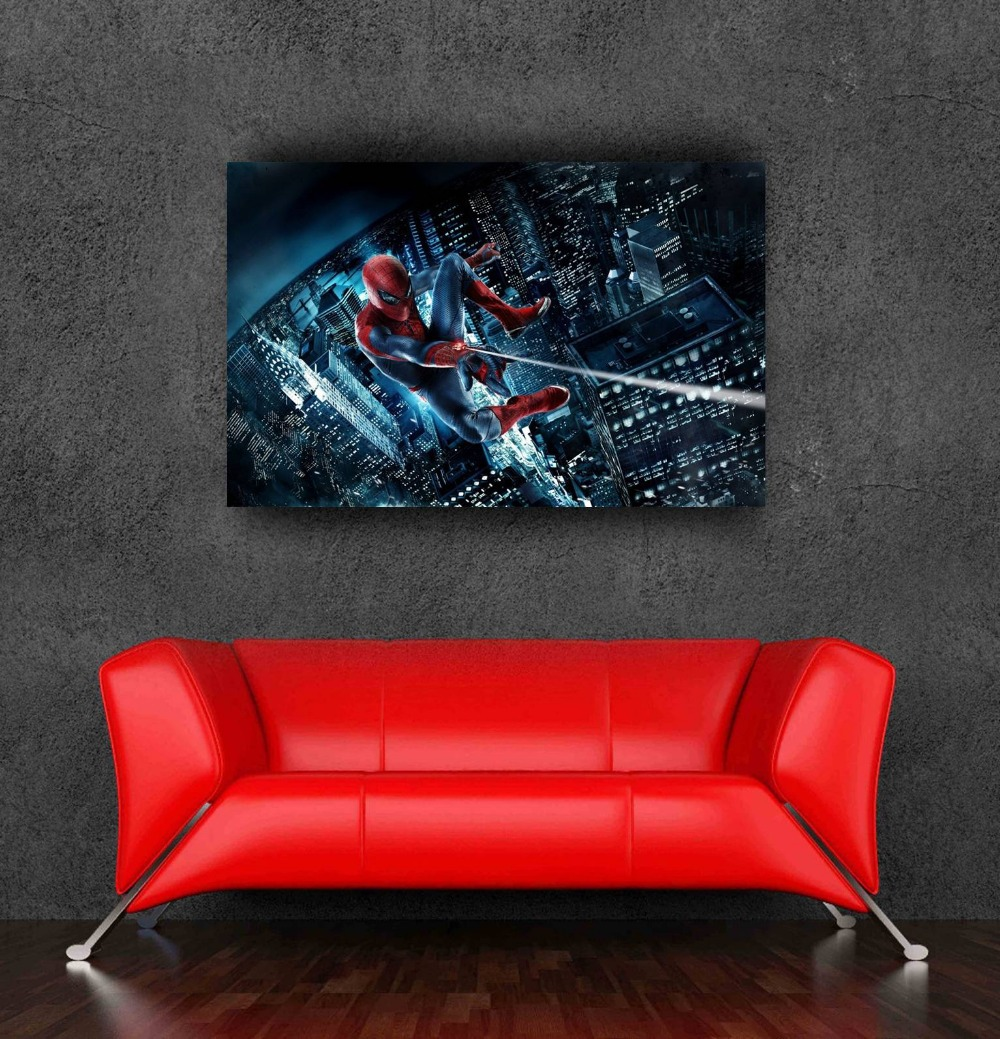 spiderman poster decorative stickers bedroom decor 80x50cm,31.5x20inch - Bang&Wil Canvas and Poster Store store