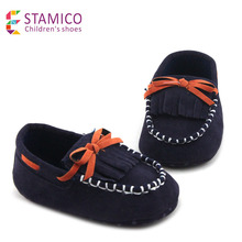Toddler Baby boys' Moccasins Navy Fringe Shoes Patent Leather Loafers Newborn Infant Boy Shoe Casual slip-on(China (Mainland))