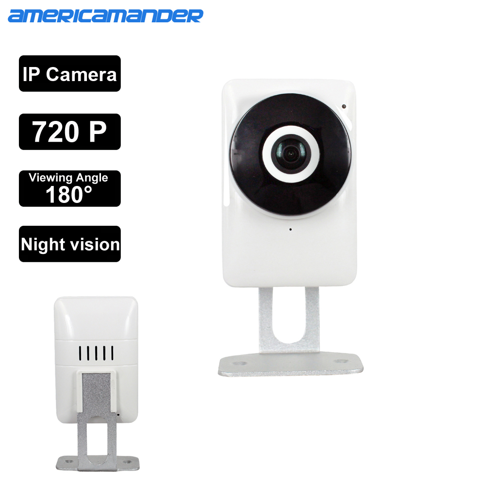 180 Degree Mini WiFi Panoramic IP Camera HD 720P Fisheye Micro SD Camera Wireless Network Audio Surveillance Night Vision Cam(China (Mainland))