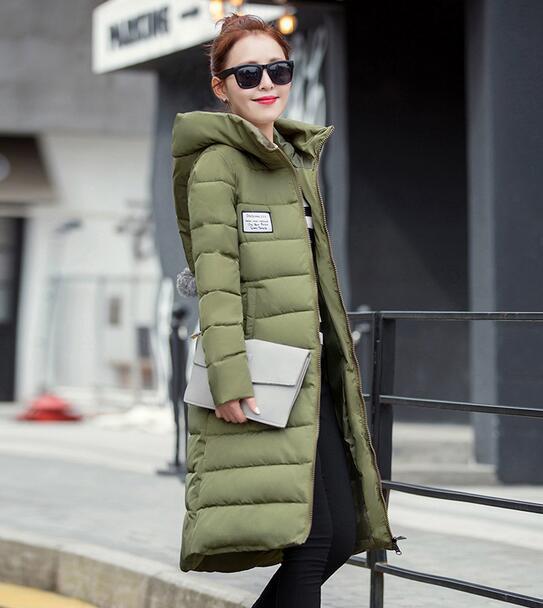 2017 Winter Cotton Down Jacket Women Long Coat Parkas fashion Female Warm Silm Hooded ladies Wadded Jacket outwear T271
