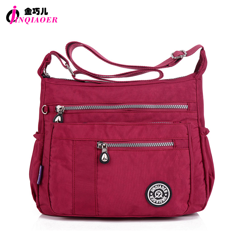 JINQIAOER Brand Casual Women Messenger Bag bolsa feminina Waterproof Nylon Shoulder Bag Book Satchels Designer Crossbody Bags(China (Mainland))