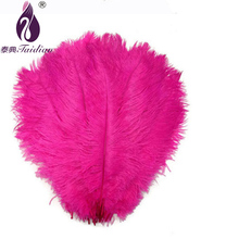 Pink Ostrich Feathers Party Decoration,20-25cm,10,Natural Dyed Osctrich Feather Plumes ,Feather Skirt Making - taidian Rhinestone Store store
