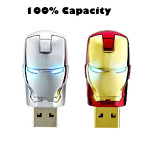 usb flash drive 8GB 16GB 32GB 64GB iron face pen drive Marvel Cartoon Iron man pendrive U disk Thumb usb stick memory stick(China (Mainland))
