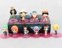 Buy Anime One Piece 10PCS/SET Q.ver Luffy Zoro Sanji Nami Usopp Chopper Brook Franky Robin PVC Action Figure Collection Model Toys for $15.99 in AliExpress store