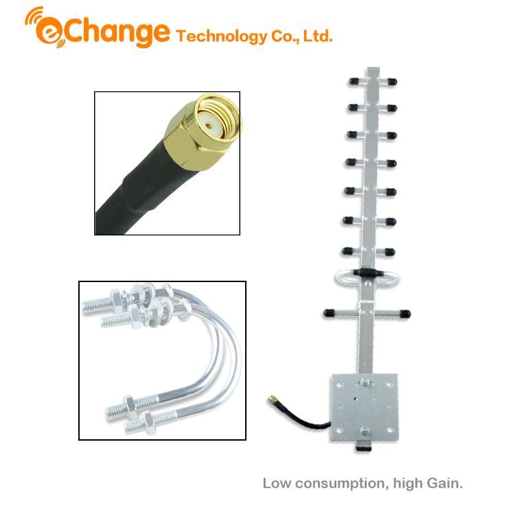 Outdoor Indoor 3G Yagi Antenna Aerial High Gain RP-SMA Plug 12dbi For 3G Wireless Network EL3178(China (Mainland))