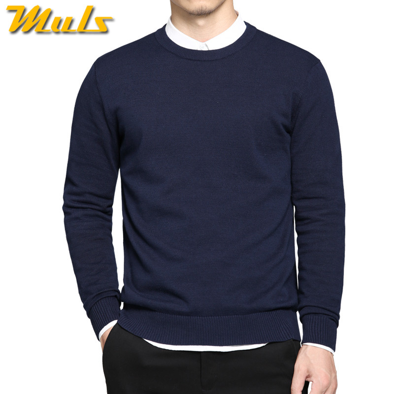 Pure cotton sweaters men best style O neck mens sweaters MULS brand jersey pullover male autumn winter 4XL knitwear dress MS891