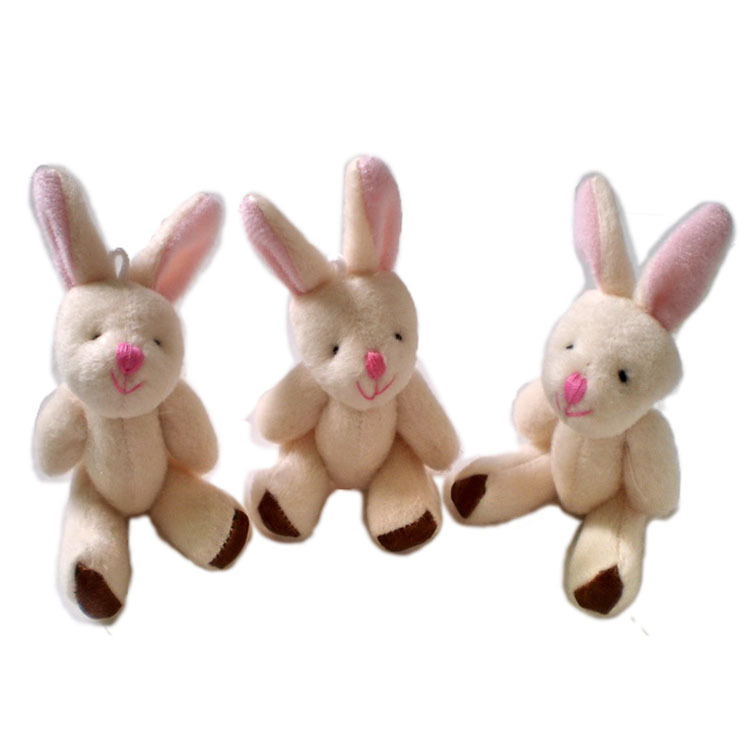 50 pcs/lot, H=9cm Plush Joint Rabbit Pendant For Key/Mobile Phone/Bag For Christmas Gifts Toys Retail/Hot Sale/Wholesale t(China (Mainland))
