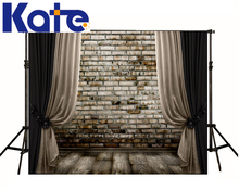 Wedding Backdrop Curtain Wall Baby Studio Mooden Floor Backgrounds For Photo Studio family children baby kate person theme