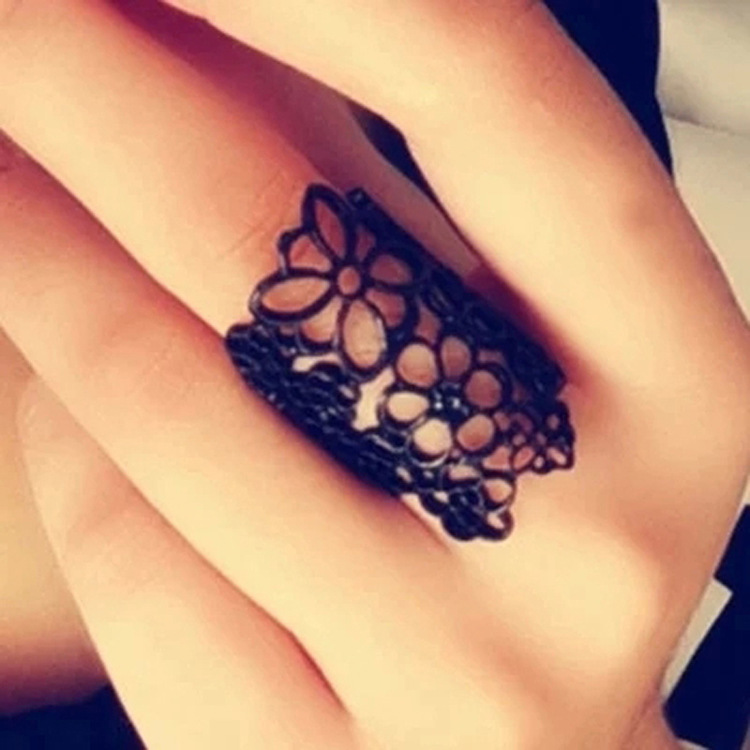 fashion accessories Female opening ring hollow lace flowers The new ring wholesale(China (Mainland))