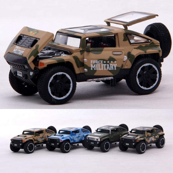 1:32 hummer HX alloy model car back in acousto-optic automotive children's toys cross-country jeep vehicles(China (Mainland))