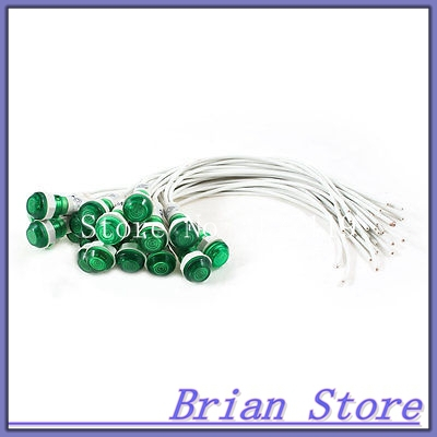 20Pcs 10mm Hole 19cm Length Cable Green Indicator Light Lamp DC 24V<br><br>Aliexpress