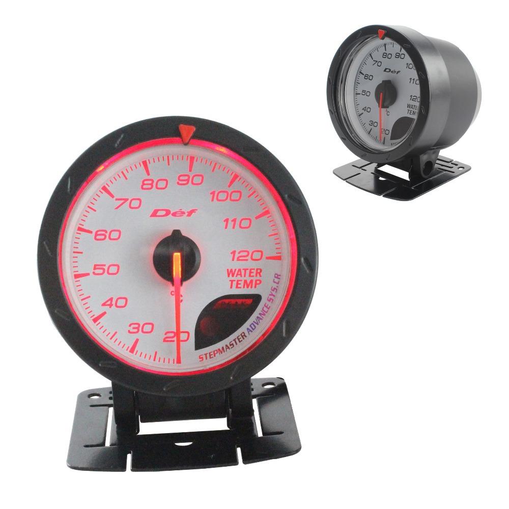 top stuff store 60mm defi water temp gauge red white lighting autometer auto gauge tachometer. Black Bedroom Furniture Sets. Home Design Ideas