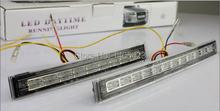 Free shipping 12V 2pcs E4 white and yellow 24 LED Car Daytime Running Light DRL Turn