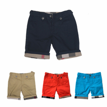 Name brand child clothes high quality boys shorts england style short for boy plaid children clothing fashion child clothes(China (Mainland))