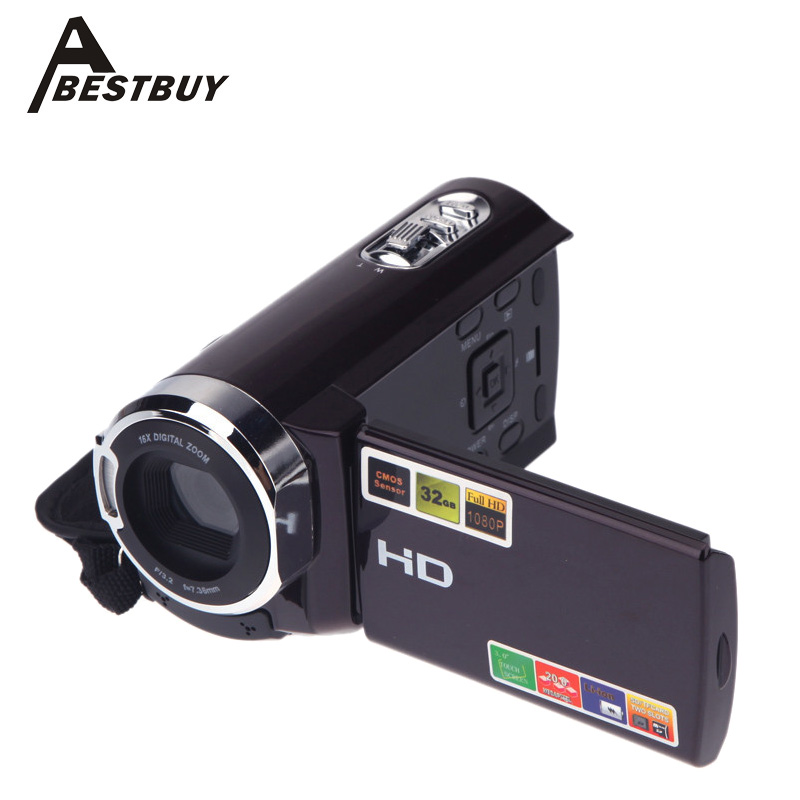 HDV-501ST 1080P Full HD 20MP Digital Video DV Camera Interpolation 3.0inch LCD Touch Screen 16x Zoom 270 Rotation Mini Camcorder(China (Mainland))