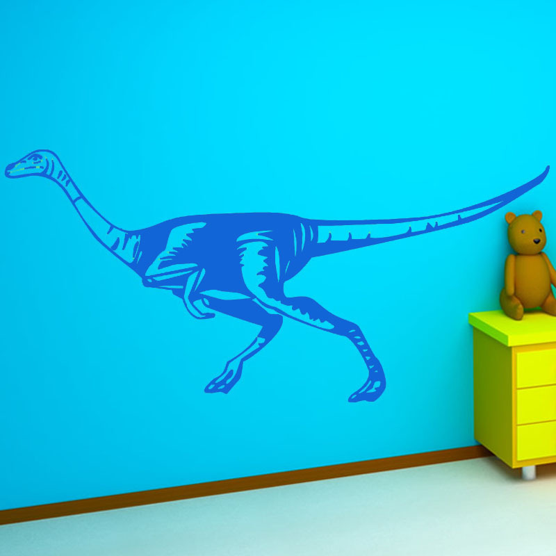Large Dinosaur Wallpaper Vinyl Hollow Out New Design A Walking Anatosaurus Wall Sticker Baby Room Wall Decor(China (Mainland))