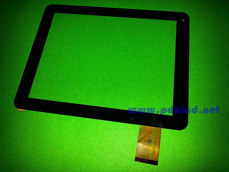 Original 9.7'' touch screen touch panel digitizer glass Yuandao window n90 dual core 2 II MT97002-V4 free shipping(China (Mainland))
