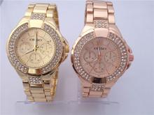 Los nuevos 2015 parejas ver. reloj de pulsera de negocios. diamante costoso reloj de pulsera. noctilucentes puntero