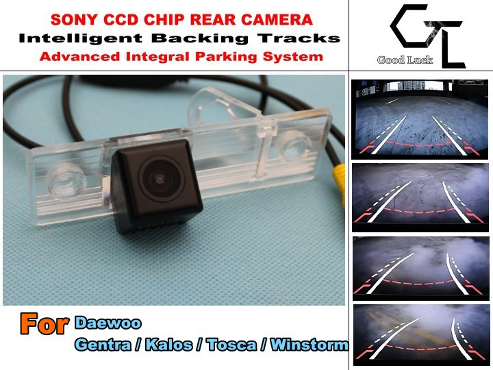 imports HD CCD Intelligent Car Parking Camera with Backing Trajectory Rear Camera For Daewoo Gentra / Kalos / Tosca / Winstorm(China (Mainland))