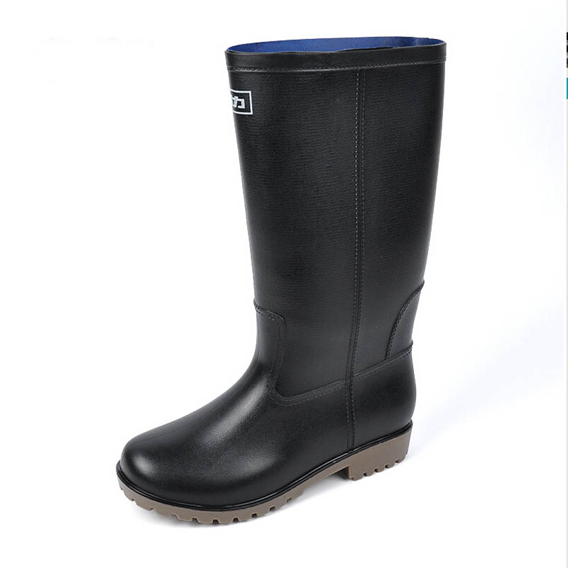 Wading Botas Gum Water Fishing Boots Mid Calf Rainboots Wear Gum-rubber Outsole Male Pull On Single Shoes Simple Non Slip<br><br>Aliexpress