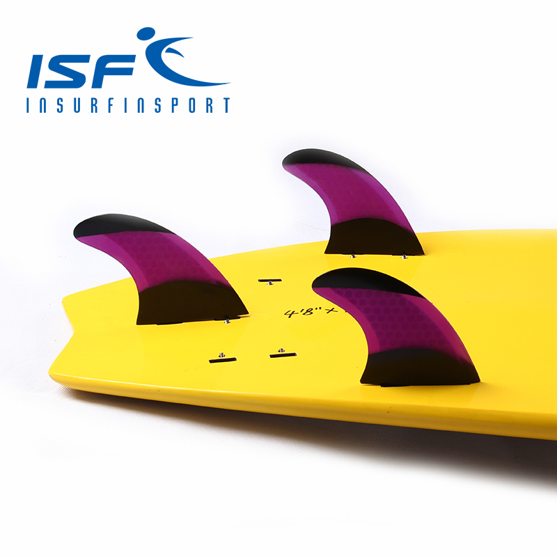 Purple Surfboard Fins quilhas prancha de FCS Fins/Surf fin With Black Paint(China (Mainland))