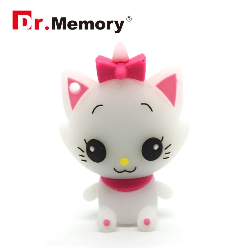 Hello Kitty USB Flash Drive 4gb 8gb 16gb 32gb Pendrive Cartoon Flash Card External Storage Pen Drive marie U Disk(China (Mainland))