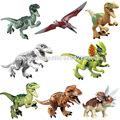 Jurassic World Dinosaur Figures Jurassic Park 4 Minifigures Bricks Models Building Toys for Children 8pcs Set