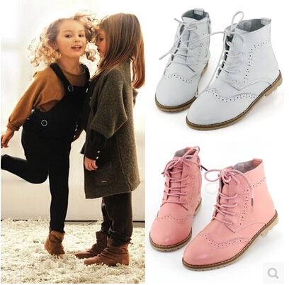 2015 Autumn Winter Kids Children shoes Genuine leather Girls Princess ankle boots martin boots single boots Sneakers C-701(China (Mainland))