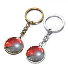2016 New Cartoon Pokemon Toy Metal Key Ring Pendant Kids Toy Cartoon Pokeball Modeling Action Figure 7CM Birthday Christmas Gift