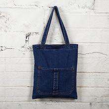 2015 new Fashion women's messenger bags famous brand handbag denim jeans lady shoulder bag clutches diagonal mochila Casual tote