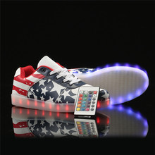 Remote Led Luminous Shoes for Adults Men USB Led Light Up Shoes Glowing Chaussure Tenis Led Flashing Lights Men Casual Shoes(China (Mainland))