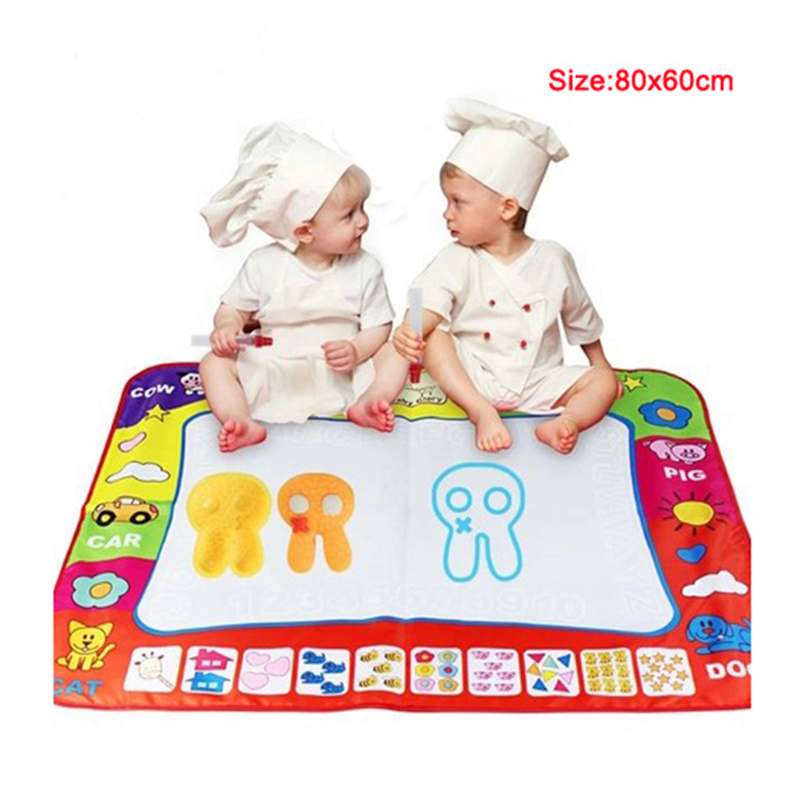 ,Aqua Doodle Children's Drawing Toys Mat Magic Pen Educational Toy 1 Mat+ 2 Water Size 80*60cm HT348 - story Co., Ltd. store