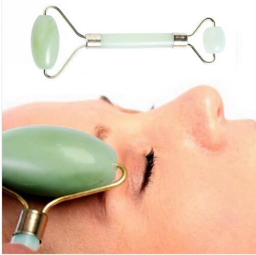 Facial Supplies Jade Roller Massager Wopmen Body Head Neck Face Relax Slimming Messaging Tool Craft massageador Beautifying(China (Mainland))
