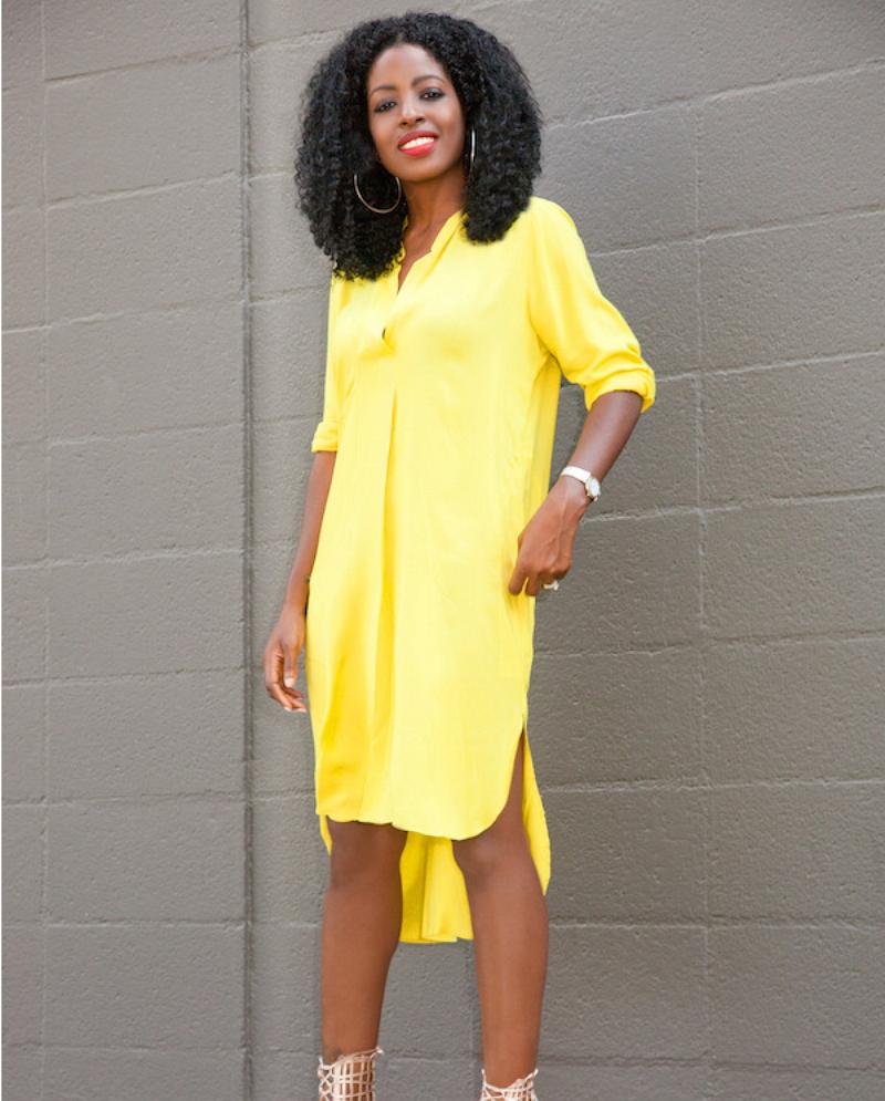 Yellow t shirt dress with sleeves u2013 Dress blog Edin
