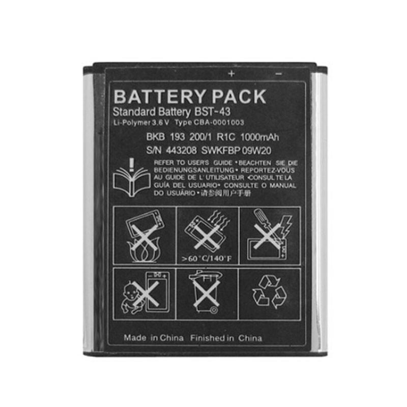 New Phone Battery BST-43 1000mAh For Sony J108/J10/J20/S001/U100 WT13I Yari U100i J10 J20 J108i free shipping