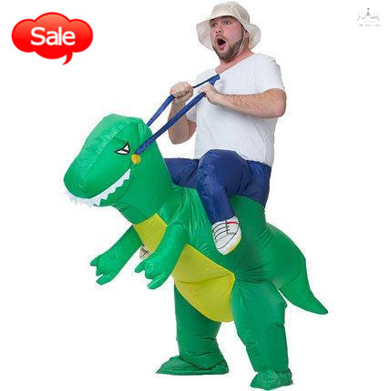 Riding a dinosaur air-filled toy inflatable toy saddle horse party clothes funny jokes cosplay clothes adult & children size(China (Mainland))