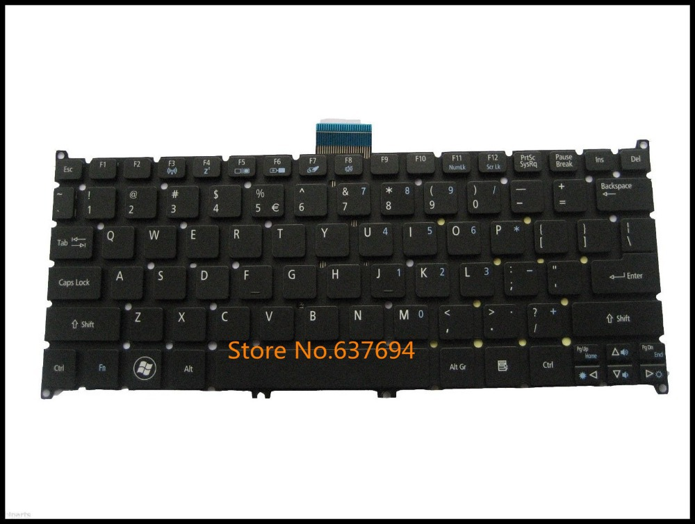 Free shipping!! Black New Keyboard For Acer Aspire One 725 756 AO725 AO756 Ultrabook Netbook US Version Black(China (Mainland))