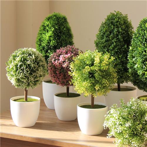 Plantas artificiais plantas bola Bouquet grama bola