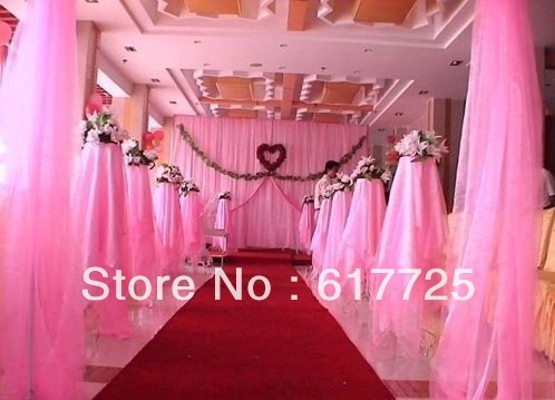 ORGANZA For Background Of Wedding Decoration, Chair Organza 0.75m x110 Meters Roll, EMS Free Shipping
