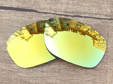 24K Golden Mirror Polarized Replacement Lenses For Ten X Sunglasses Frame 100% UVA & UVB Protection